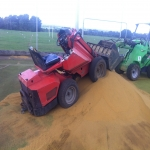 Drag Mat Pitch Maintenance in Aldersey Park 8