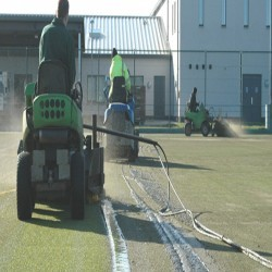 Synthetic Turf Drag Brushing in Aldbourne 2