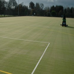 Drag Mat Pitch Maintenance in Aldersey Park 12