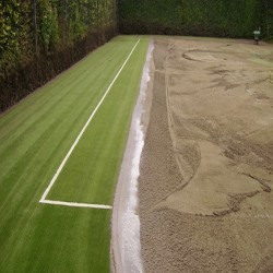 Synthetic Turf Drag Brushing in Aberystwyth 6