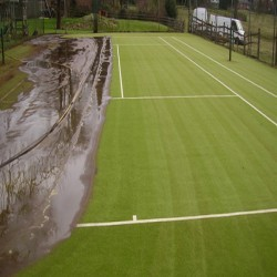 Drag Mat Pitch Maintenance in Aldersey Park 7