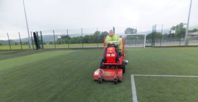 Synthetic Pitch Grooming in Abbey Dore