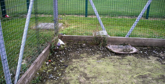 Removing Contaminated Sports Court in Kent