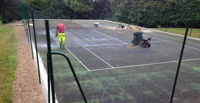 Artificial Tennis Court Maintenance in Aberdare/Aberdar