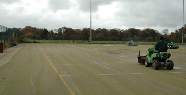 Artificial Hockey Pitch Maintenance in Aber-Gi