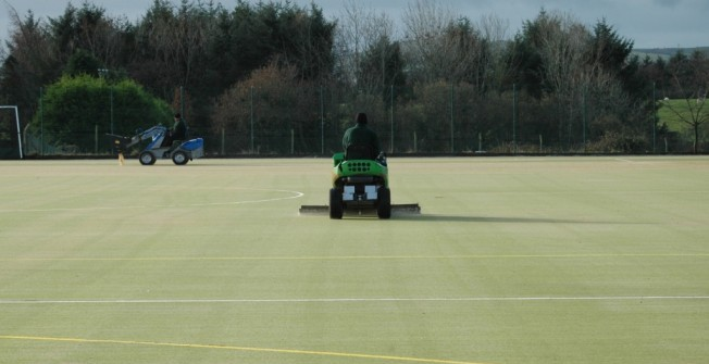 Hockey Surface Repair in Chart Corner