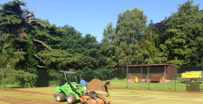 Sand Filled Astroturf Maintenance in Chart Corner