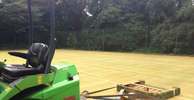 Sports Pitch Drag Mats in Aldersey Park