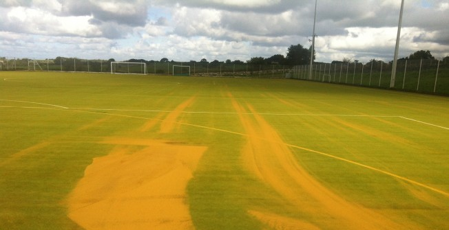 Turf Infill Top Up in Freiston