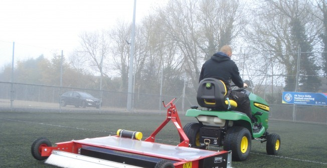 Sports Pitch Drag Brushing in Austerfield