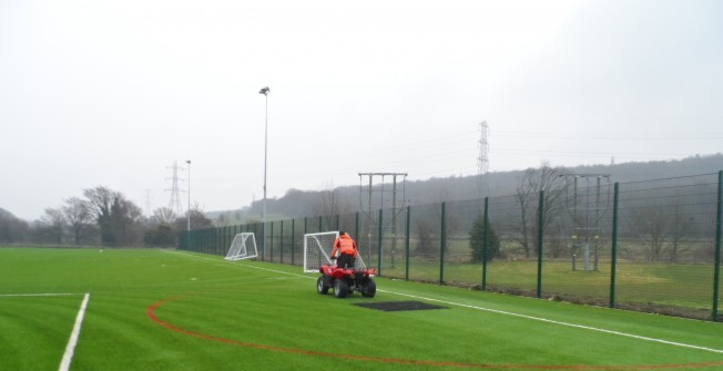 Maintaining Sport Pitches in Aberangell