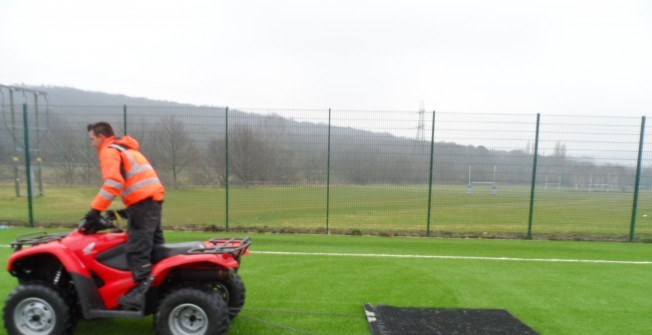 Sport Surface Drag Matting in Abbey Hey